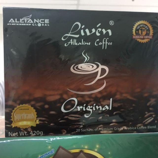 Coffe liven alkaline coffe