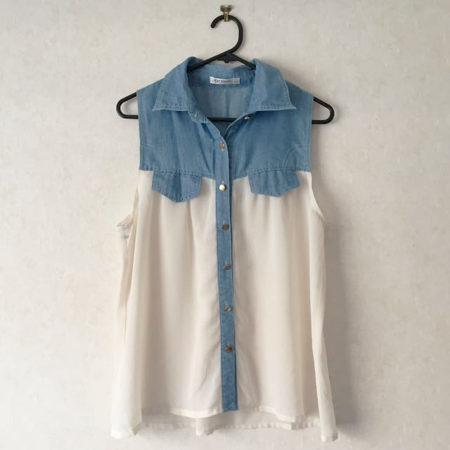 Collared singlet blouse