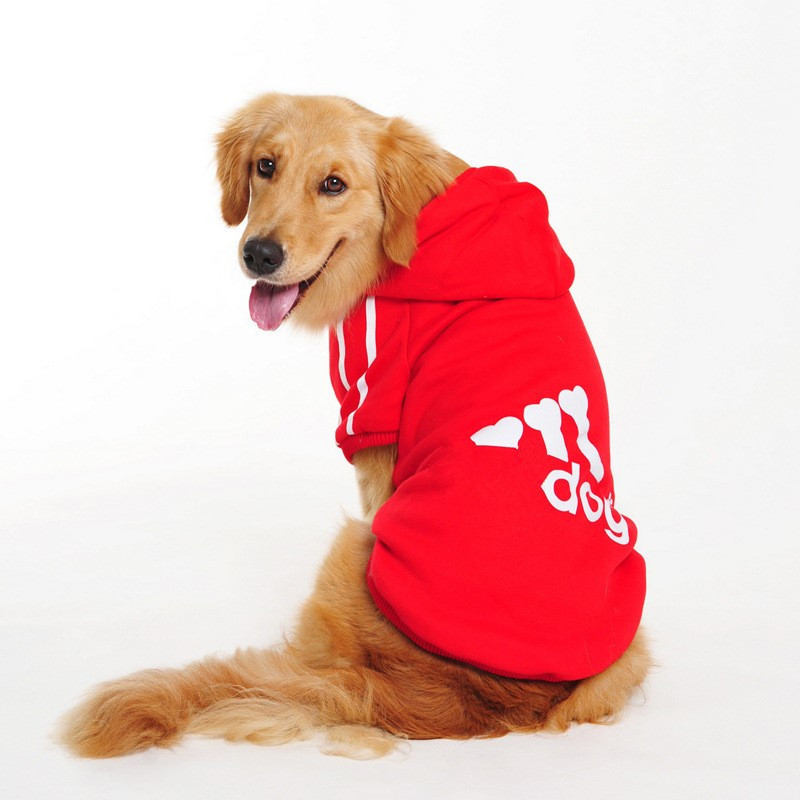 Cute Dog Clothes For Big Large Dogs Clothes Plus Size Clothing  Autumn/Winter Warm Soft Dog Coat Jacket Big Dog Clothing Hoodie for Golden  Retriever