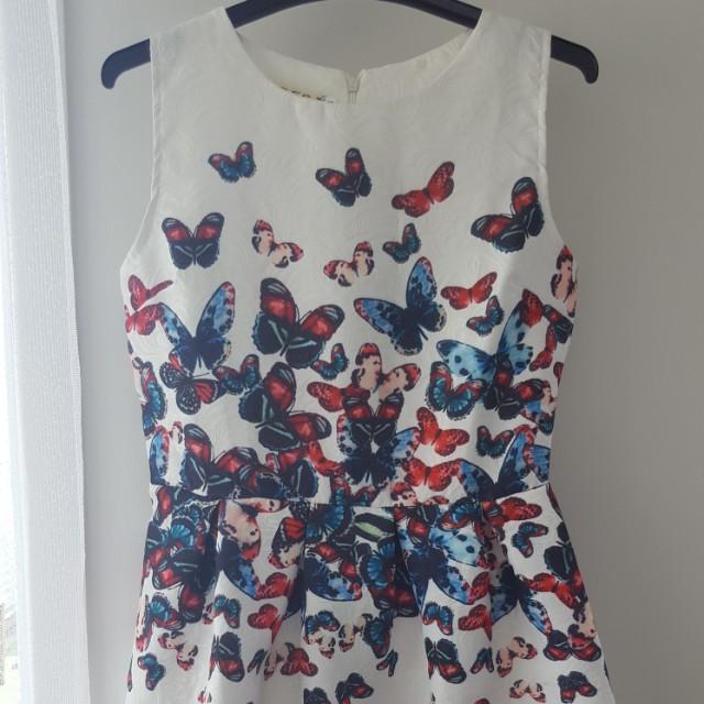Cute white butterfly dress