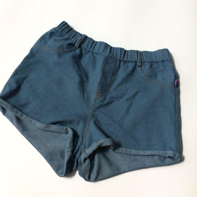 Denim-like shorts