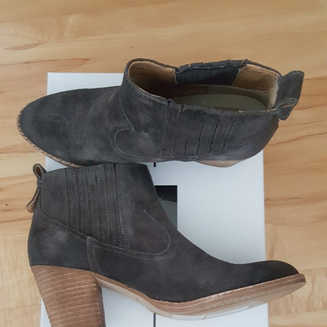 Dolce Vita Jones Ankle Boots Charcoal Sz 8