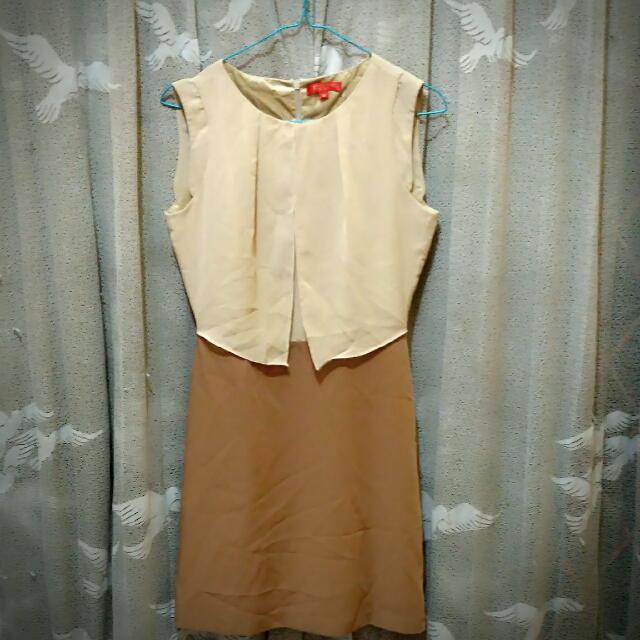 Dress Sifon Cream Magnolia
