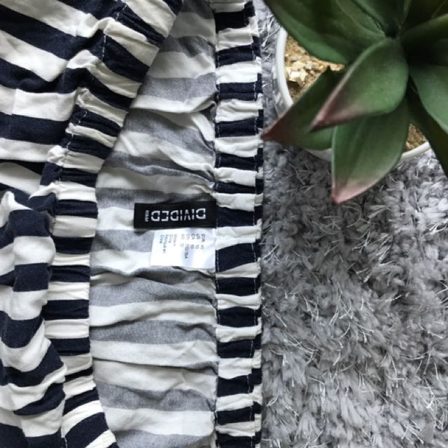 Effortless Blue and White Striped Romper