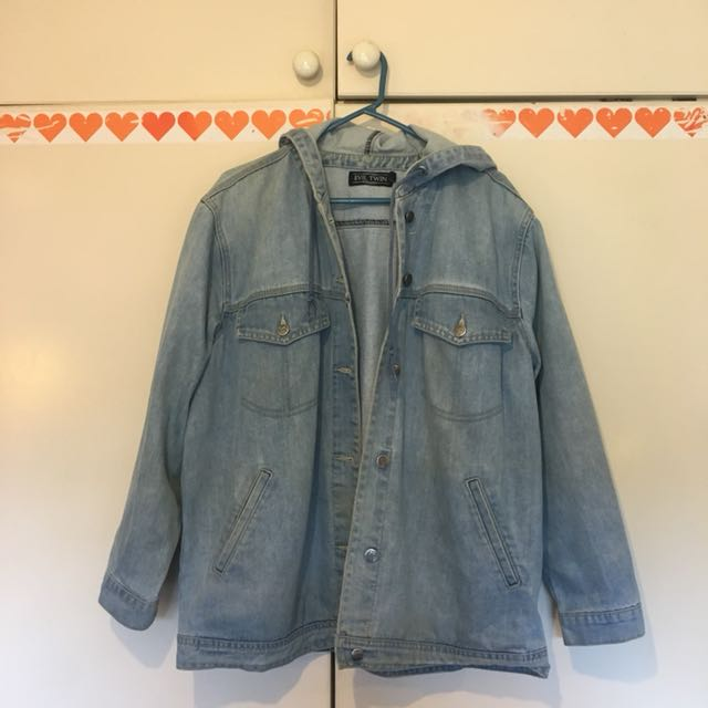 Evil Twin denim jacket with hood