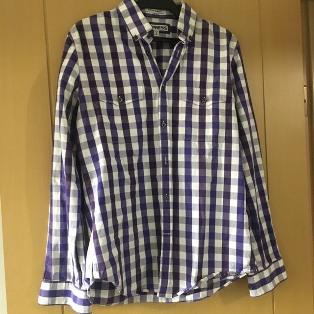 Express Checkered Polo