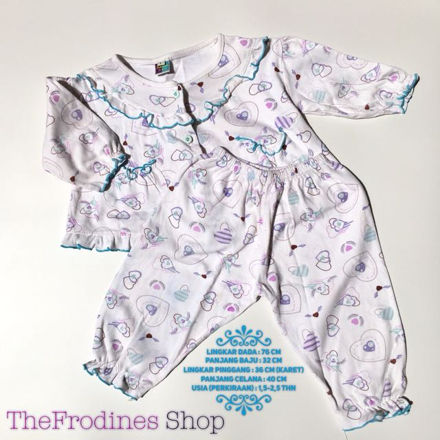 Frilly Blue Pajama (PRELOVED)