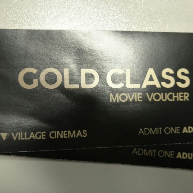 Gold Class movie tickets