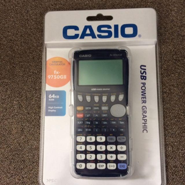 Graphics Calculator. fx- 9750GII