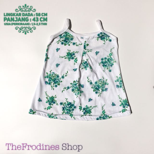 Green Flowers Tank Top (PRELOVED)