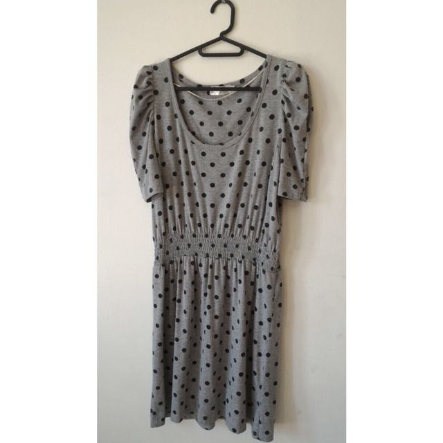 Grey Polka dots dress