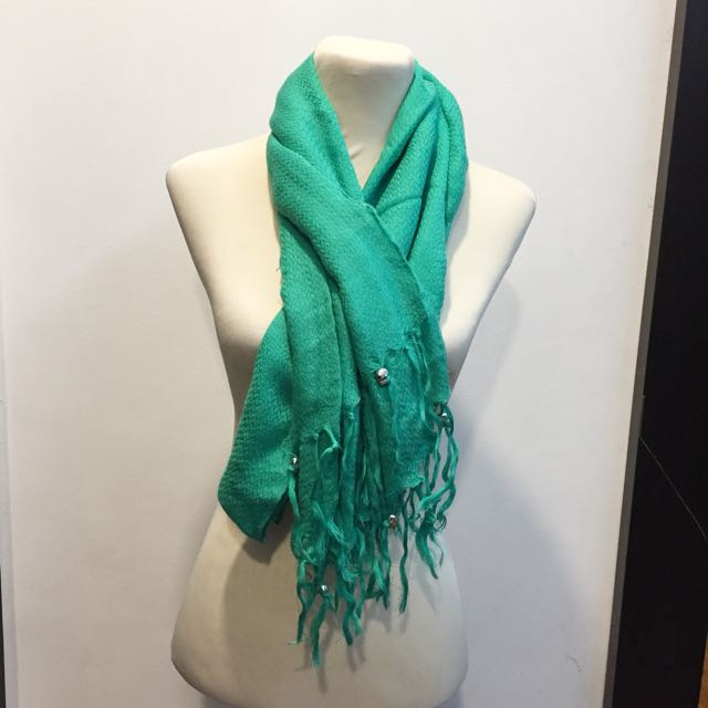H&m scarf Green
