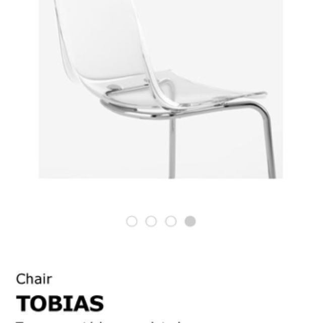 IKEA Torsby Table U0026 Tobias Transparent Chairs, Furniture, Tables U0026 Chairs  On Carousell