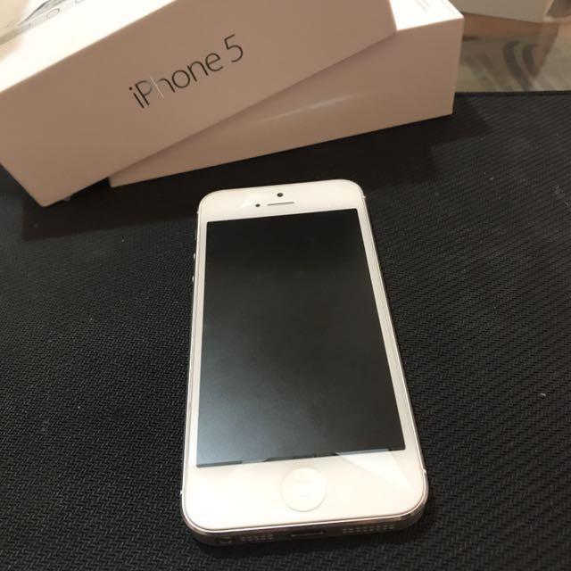 (已降價)iPhone 5 16G 銀 不議價