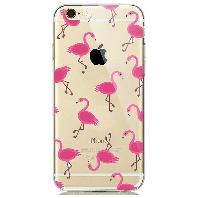 iPhone 7 Plus Silicone Case - Pink Flamingo