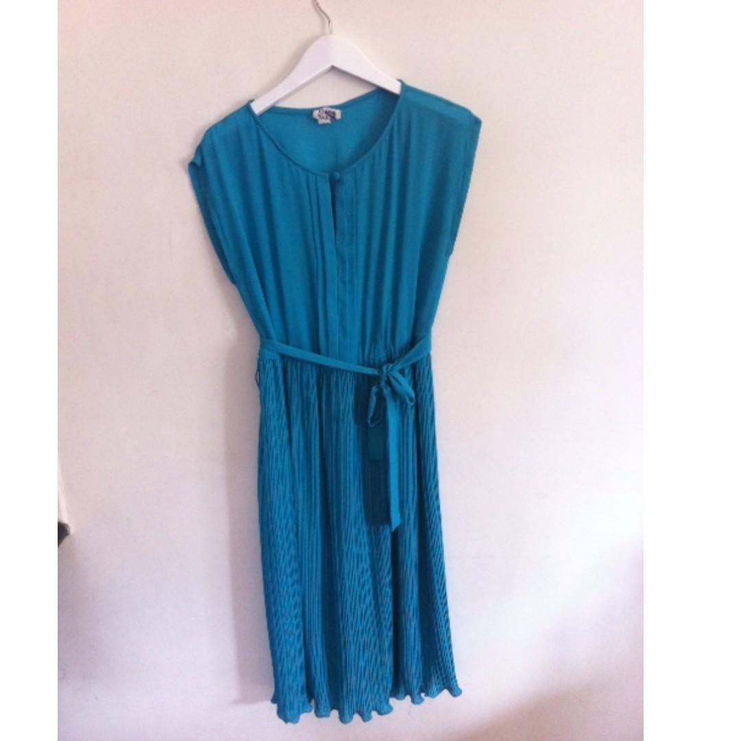 Jade Green Vintage Dress Size 12