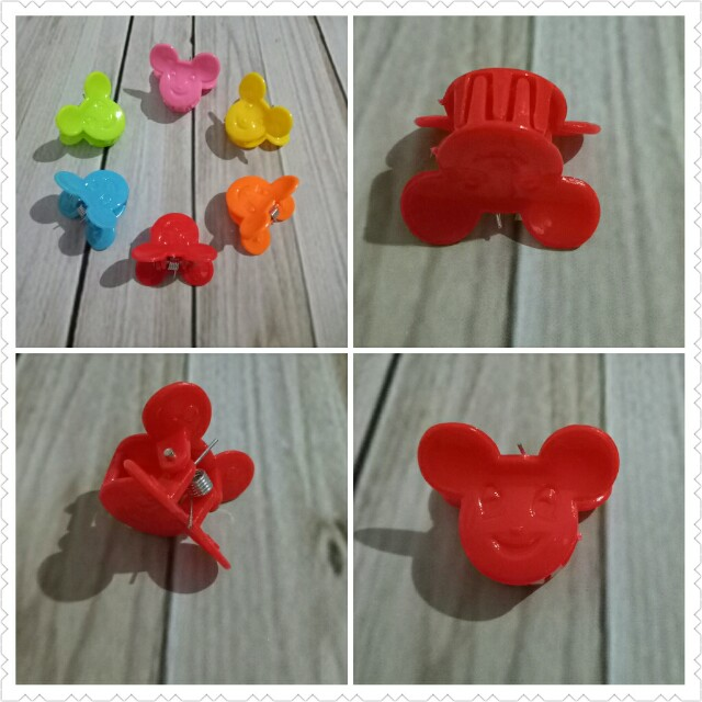 Jepit rambut mini mickey red