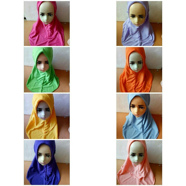 Jilbab Anak Bergo Model Kekinian Bahan Kaos Olshop Fashion Olshop