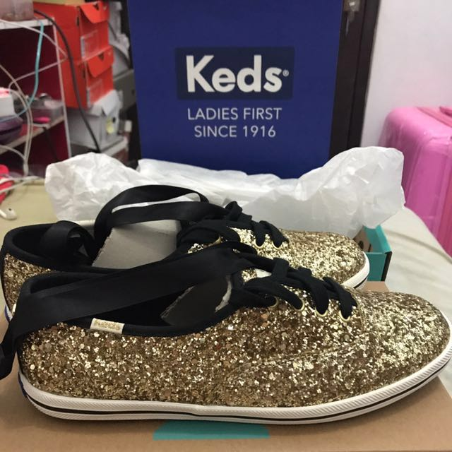 KEDS for Kate Spade Gold Glitter Shoes