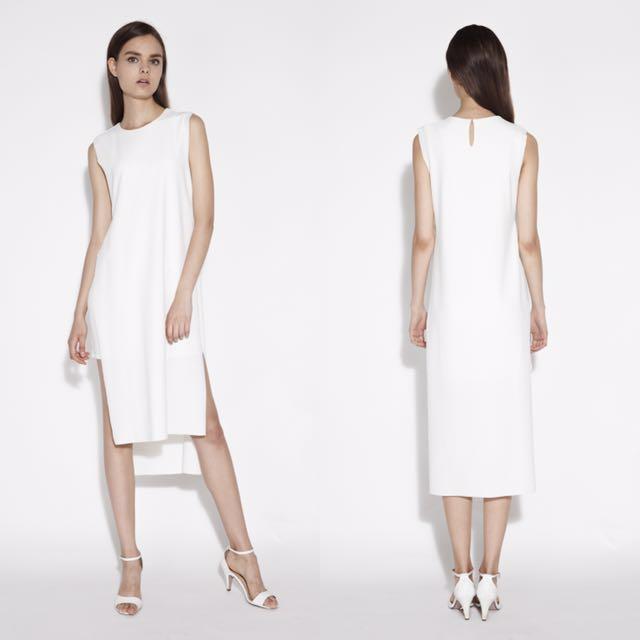 530ba60cad6f KLARRA DOUBLE LAYERED MIDI DRESS IN WHITE, Women's Fashion, Clothes ...