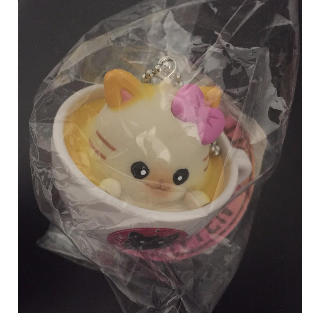 Latte Kitten Coffee Ball Chain for sale $5 (New)