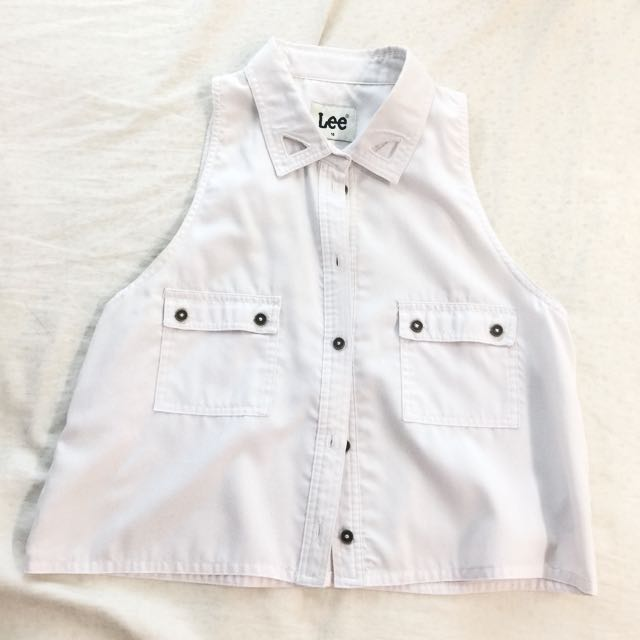 Lee Cooper white collared top
