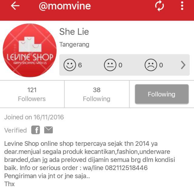 LEVINE SHOP / MOMVINE