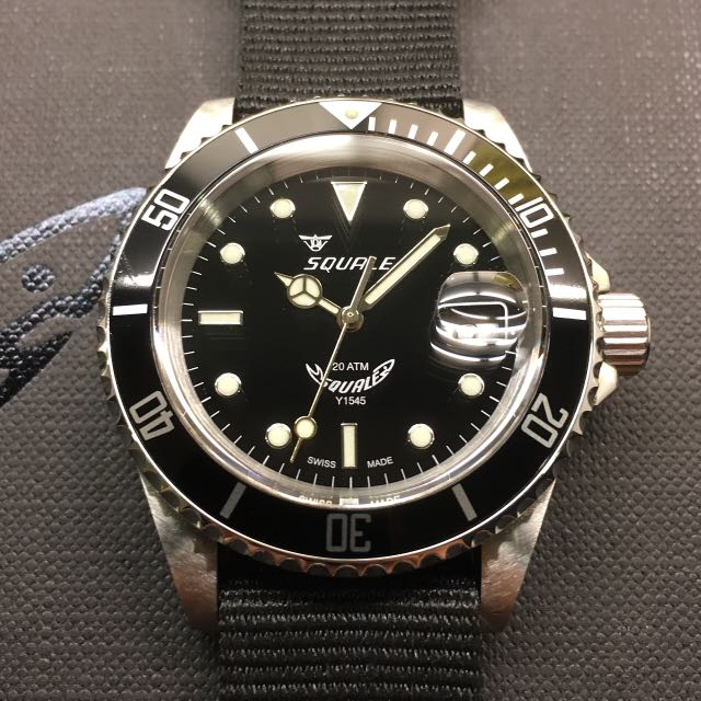 limited edition gold gilt squale 20 atmos 1545 di carousell