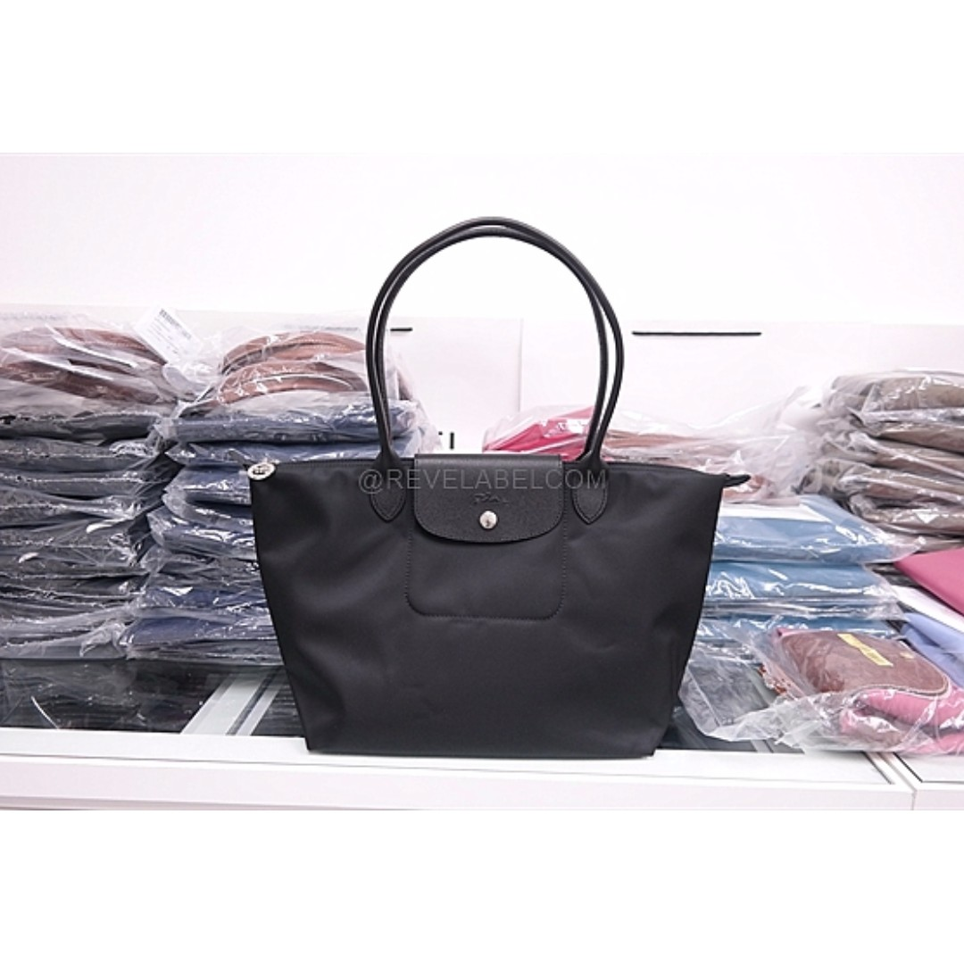 4ca970b92e2a Longchamp Le Pliage Neo Long Handle Small Black 2605 578 001