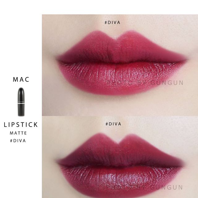 m.a.c lipstick 1.8g diva, health & beauty, makeup on carousell