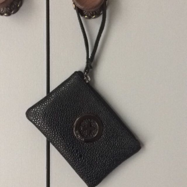 MIMCO small black leather pouch