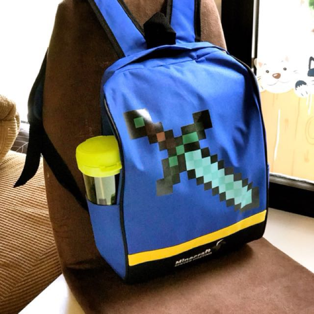 Minecraft diamond sword school bag