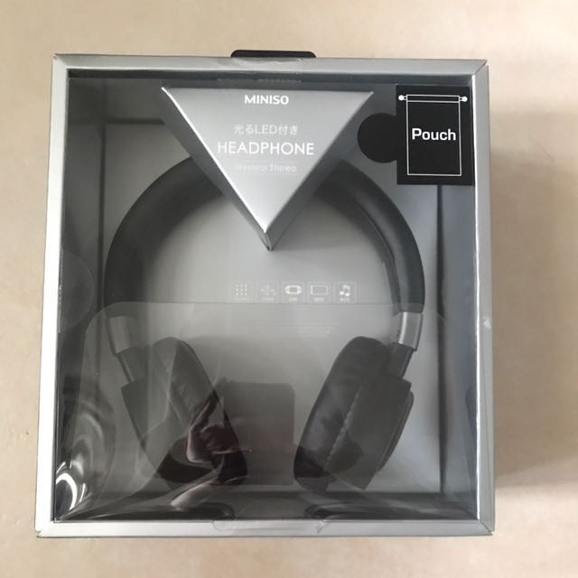 Miniso Bluetooth LED Headphone, Electronics, Audio On Carousell