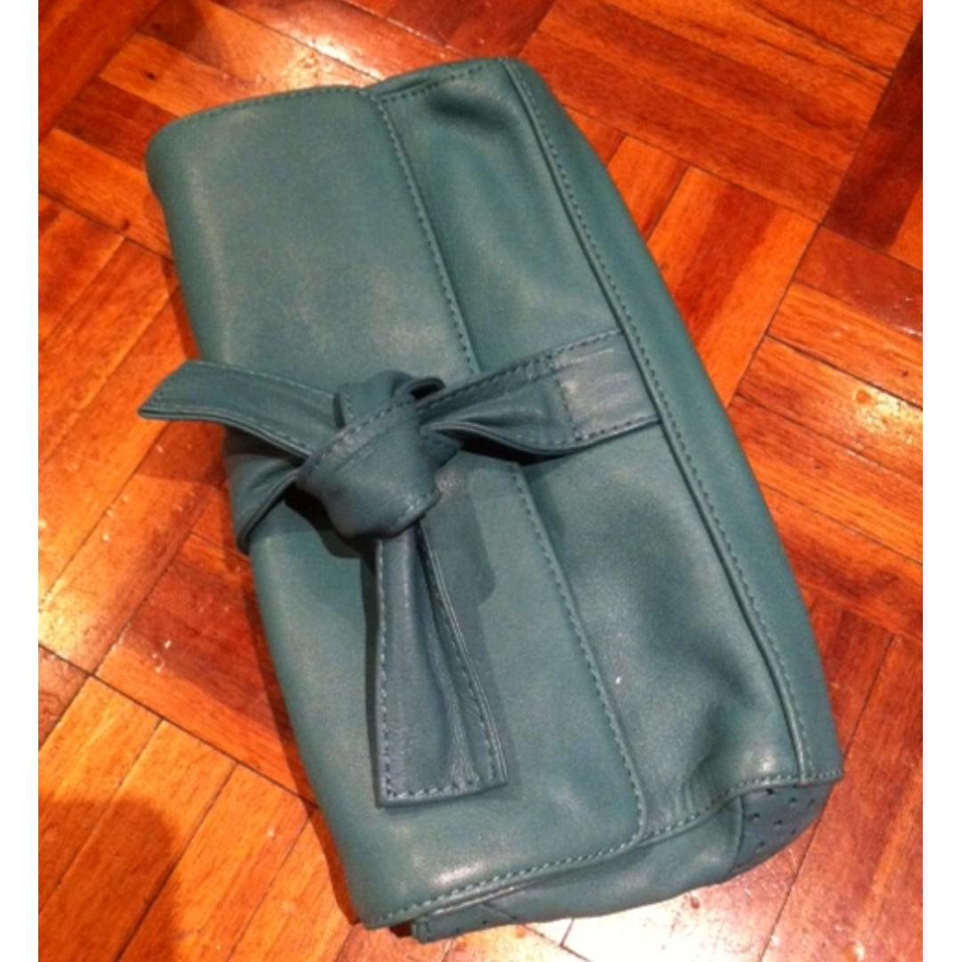 Morrissey Leather Jade Green Clutch