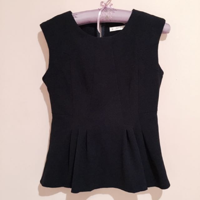 Navy Blue Work Blouse