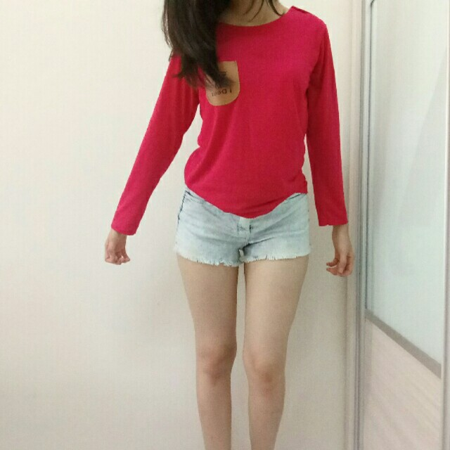 (NEW) Pocket Long Sleeve Top