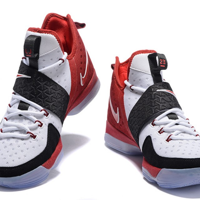 huge discount 6f829 27538 Nike LeBron XIV EP White Red Black, Sports, Sports   Games Equipment ...