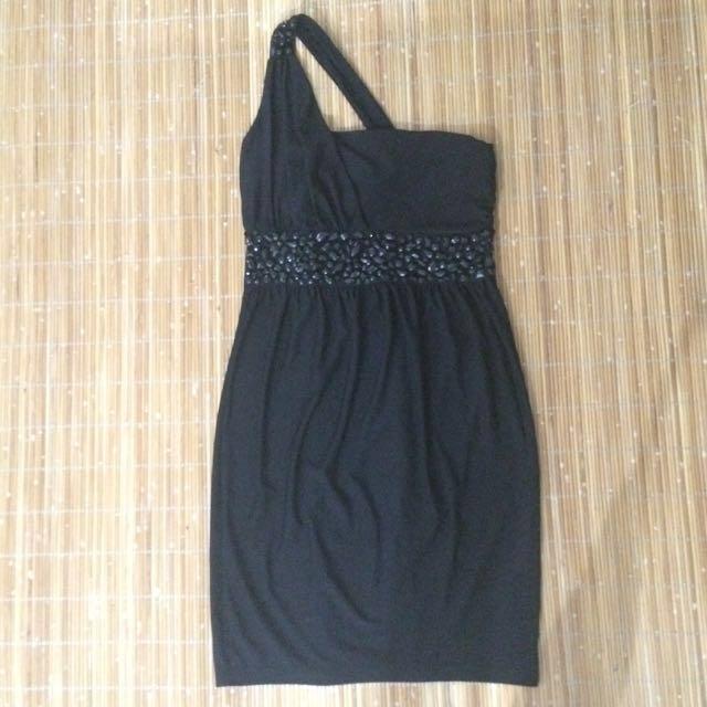 One Shoulder Black Dress #Take10off