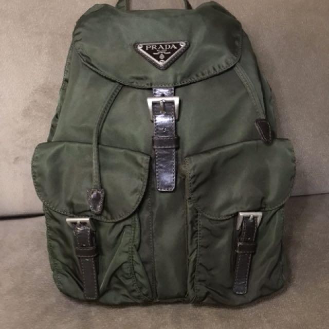 210ba308597e ... cheap prada vela medium olive green backpack preloved womens fashion  bags wallets on carousell 0d4aa e6bcb