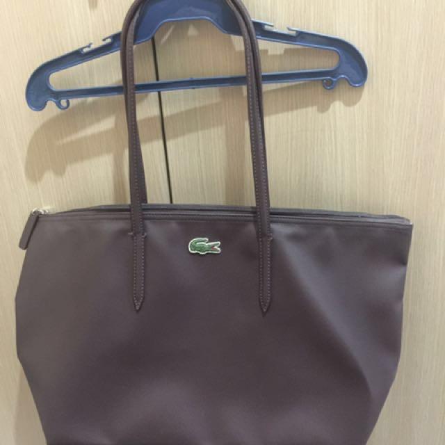 Preloved lacoste large tote bag