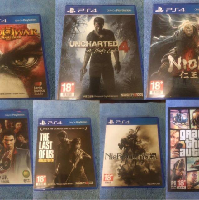 PS4 多款 遊戲光碟 遊戲片 9成新割愛