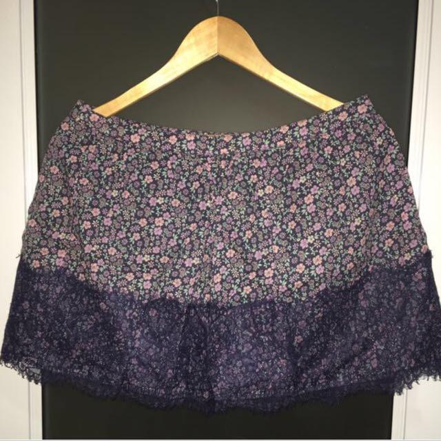 Purple Lace Skirt