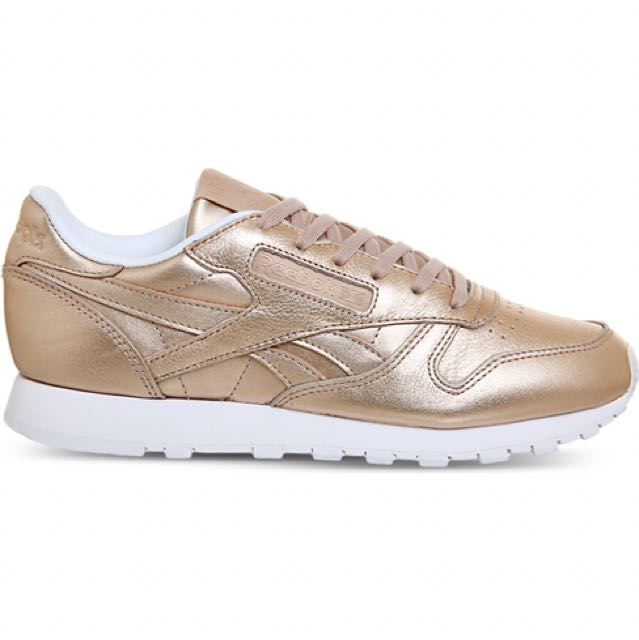 separation shoes fab04 e9a3b Reebok Classic Leather Trainers (Pearl Metallic), Women s Fashion, Shoes on  Carousell