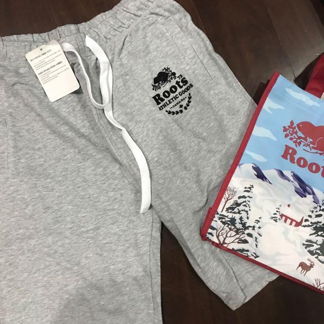 Roots 男短褲 灰 S L