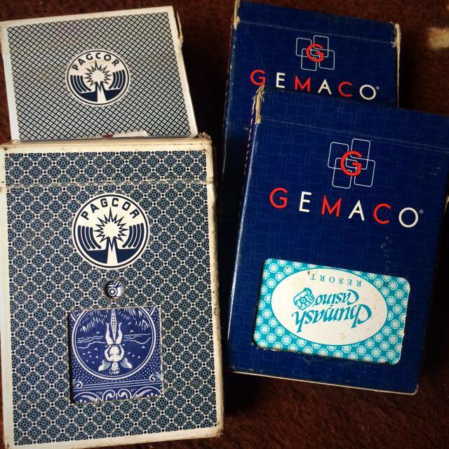 Set of 4 Casino Cards