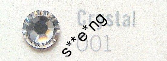 ss34 Swarovski #2058 施華洛世奇 Crystal (001) 平底閃石 144原裝封包 包本地平郵