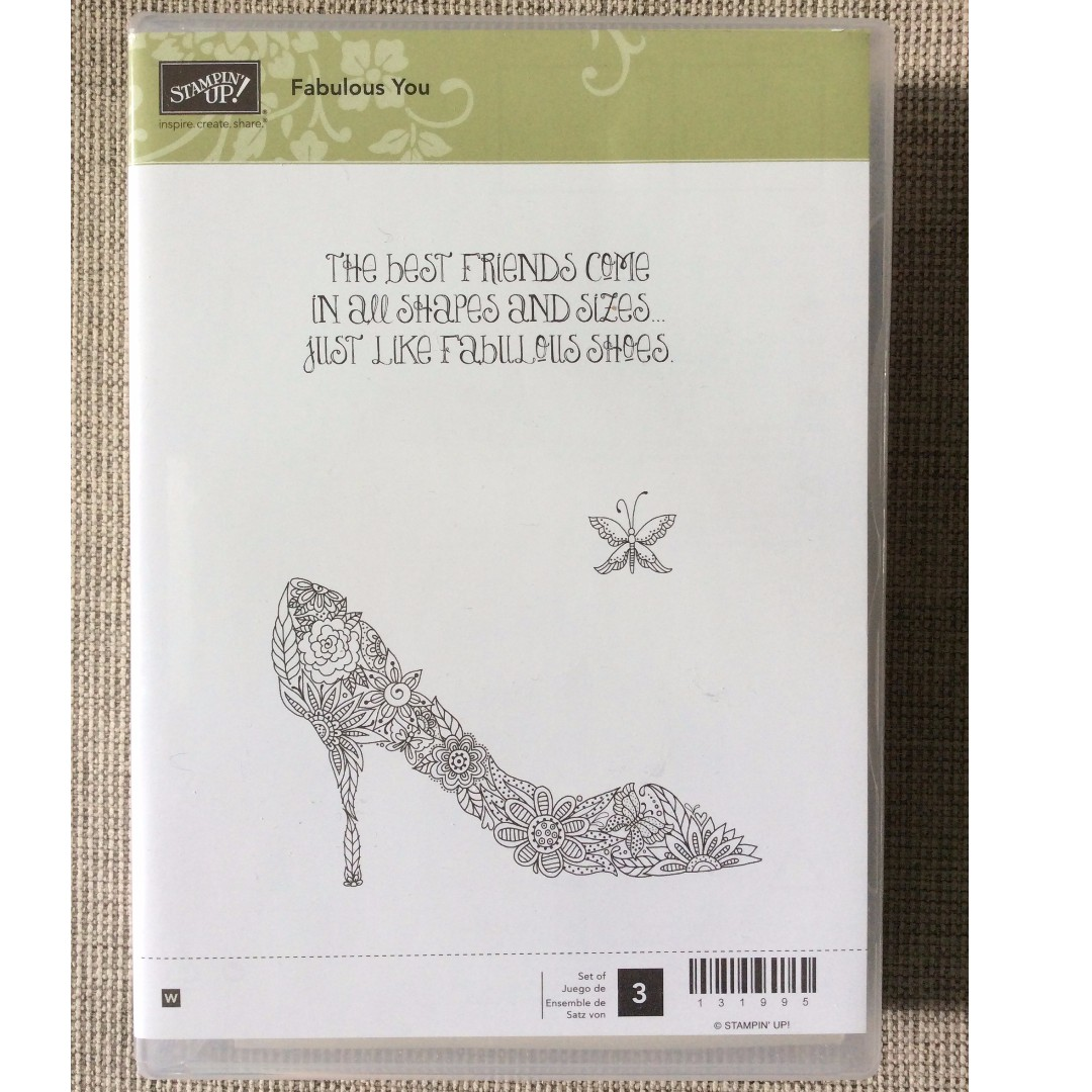 Stampin' Up! Fabulous You Wood Mount Stamp Set NEW - Limited Edition