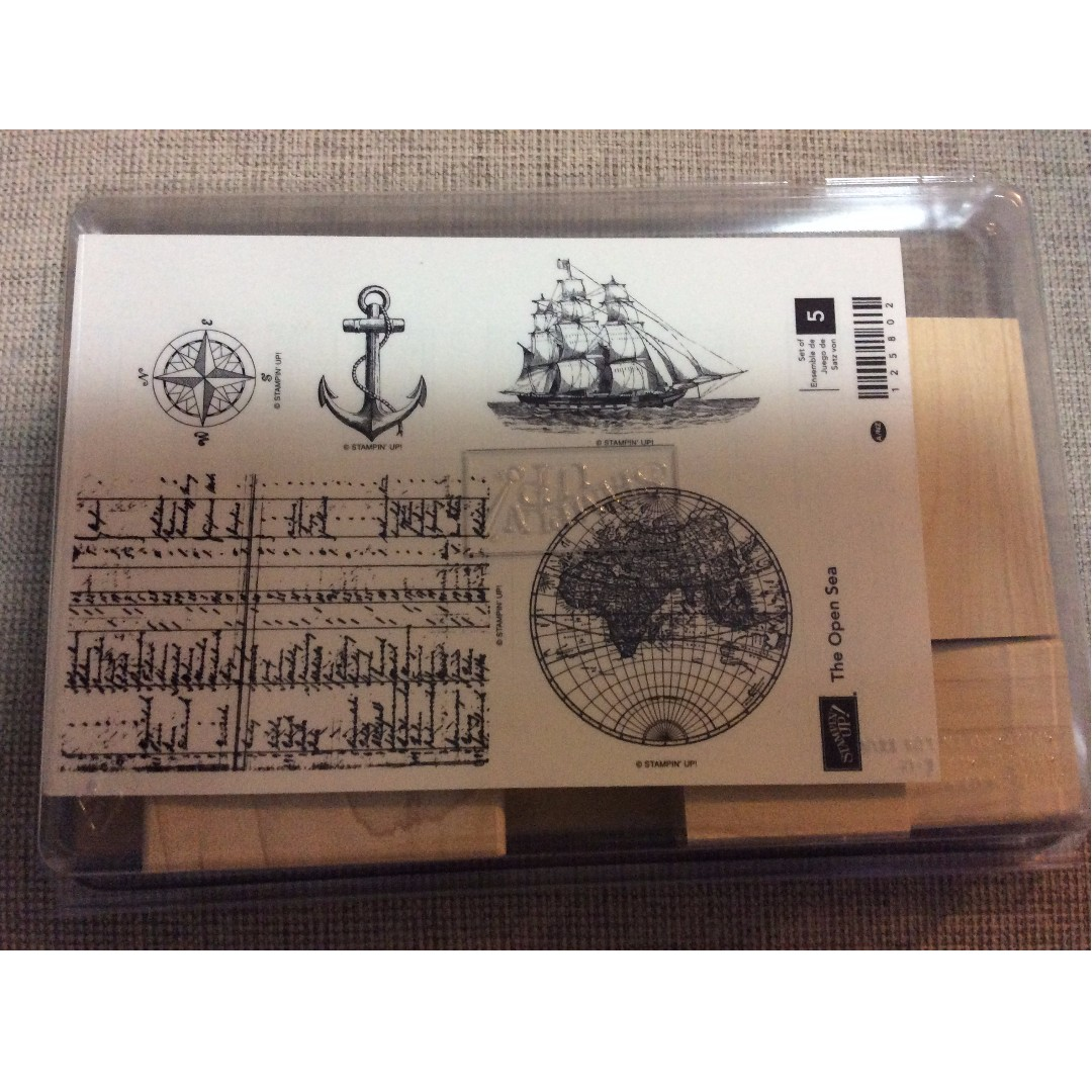 Stampin' Up! The Open Sea Wood Mount Stamp Set NEW - Limited Edition