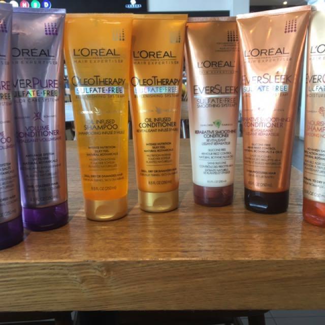 Sulfate Free Loreal Shampoo and Conditioner