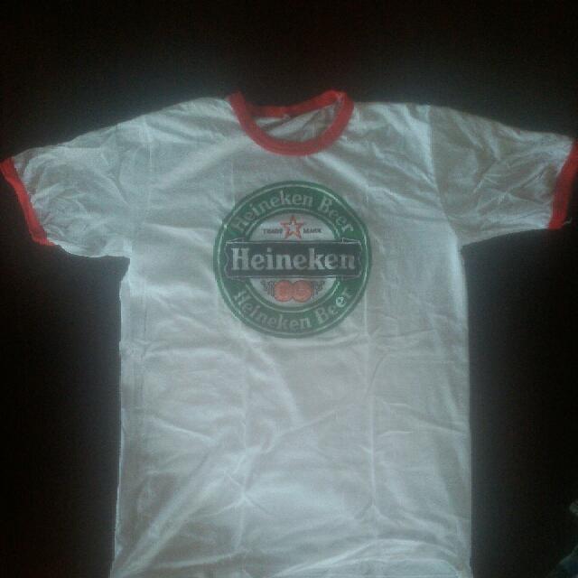 454b93d3f T shirt heineken ringer, Men's Fashion, Clothes, Tops on Carousell